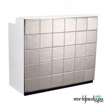 White/Silver/White Marble - Fab Reception Desk