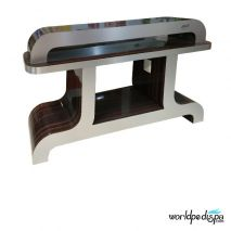 Cherry/Aluminum - Nail Dryer Table for Salon