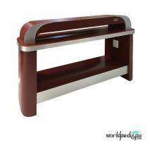 Burgundy/Aluminum - Nail Dryer Table for Salon