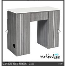 Grey/White Top -  WS-NM-905 Nail Table