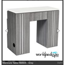 Grey/White Top -  WS- NM-905 Nail Table w/ Ventilation