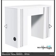 White/White top -  WS- NM-905 Nail Table w/ Ventilation