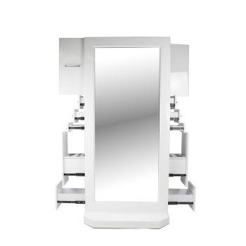 White Mirror & Drawers