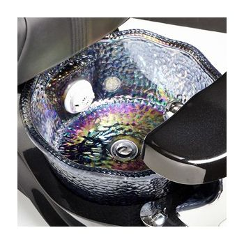 """""""Mother of Pearl"""" Iridescent Crystal Basin"""