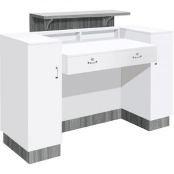 SC06 White with Gray Quartz Top Back