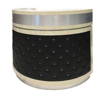 Beige/Aluminum/Black PU