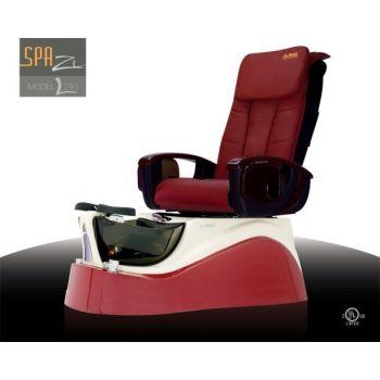 L240 pedi chair - Burgundy