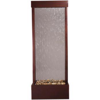 8' Center Mount Dark Copper Gardenfall with Clear Glass