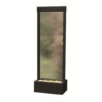 8' Black Onyx Gardenfall Fountain with Clear Glass