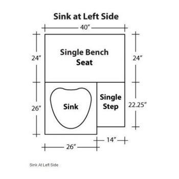 Sink at Left Side
