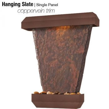 Designer Series Hanging Slate Waterfall with Copper Vein Finish