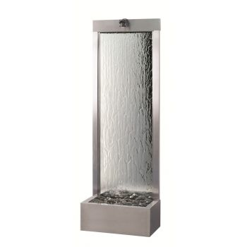 8ft Rear Mount Brushed Stainless with Silver Mirror Waterfall