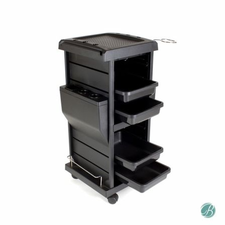 Claire Lockable Salon Trolley Opened