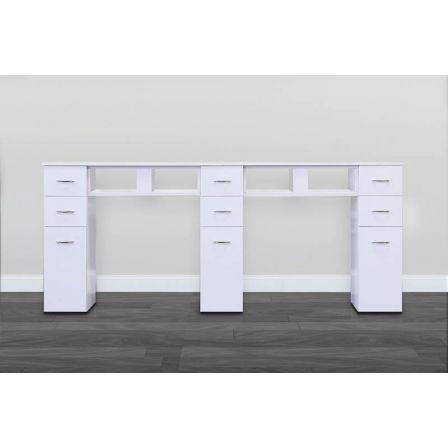 JA-Double White/White Granite Top Table