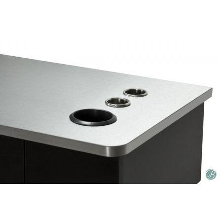 Black & Metal Top - Appliance Holders