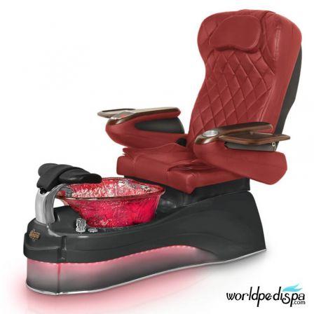 Gulfstream Ampro Pedicure Chair - Burgundy BLack