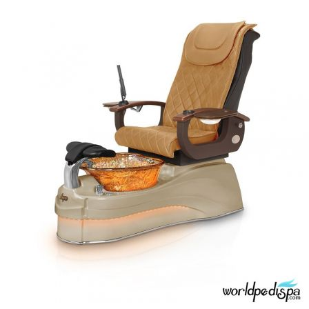 Gulfstream Ampro Pedicure Chair - Butterscotch Cappuccino