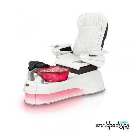 Gulfstream Ampro Pedicure Chair - White with Wine Glass Bowl