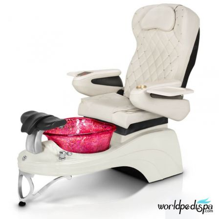 Gulfstream Camellia 2 Pedicure Chair - White