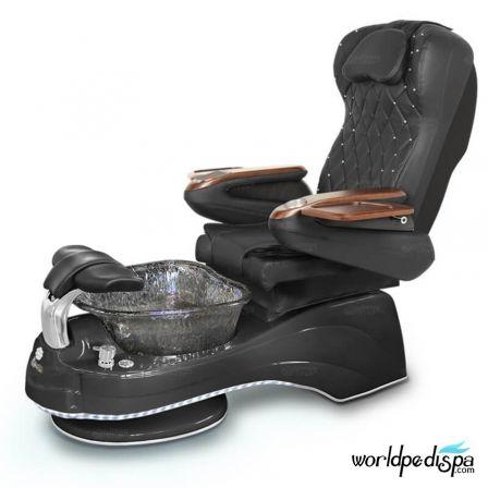 Gulfstream Camellia Pedicure Chair - Black