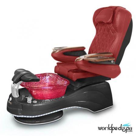 Gulfstream Camellia Pedicure Chair - Burgundy Black