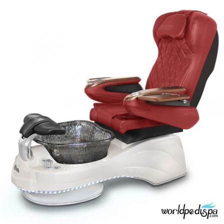 Gulfstream Camellia Pedicure Chair - Burgundy White