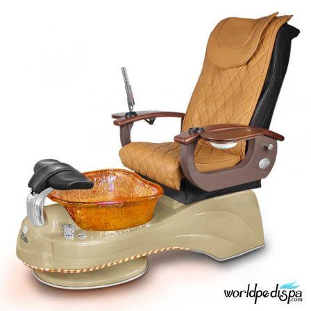 Gulfstream Camellia Pedicure Chair - Butterscotch Cappuccino