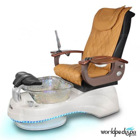 Gulfstream Camellia Pedicure Chair - Butterscotch White