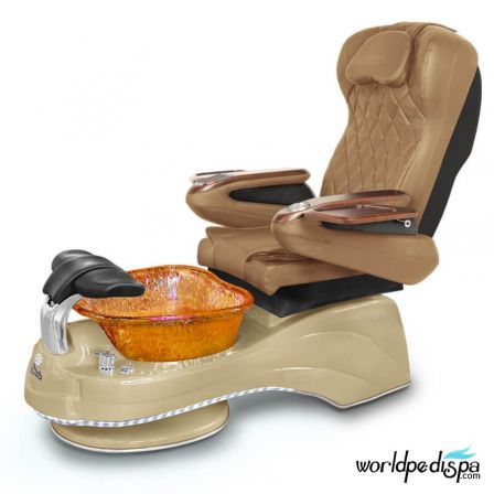 Gulfstream Camellia Pedicure Chair - Curry Cappuccino