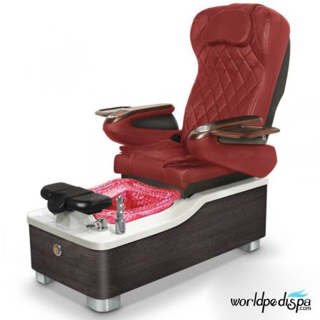 Gulfstream Camellia Pedicure Chair - Burgundy