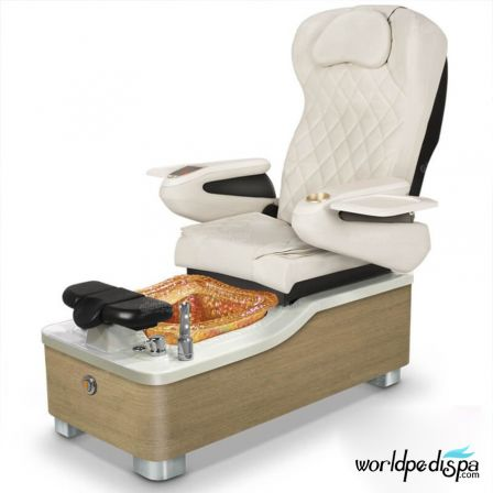 Gulfstream Camellia Pedicure Chair - White Gold