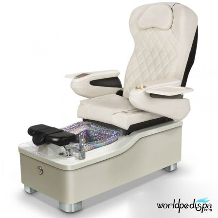 Gulfstream Camellia Pedicure Chair - White