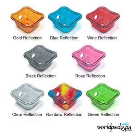 Gulfstream GS La Rosina Pedicure Bench - Glass Bowl Color Options