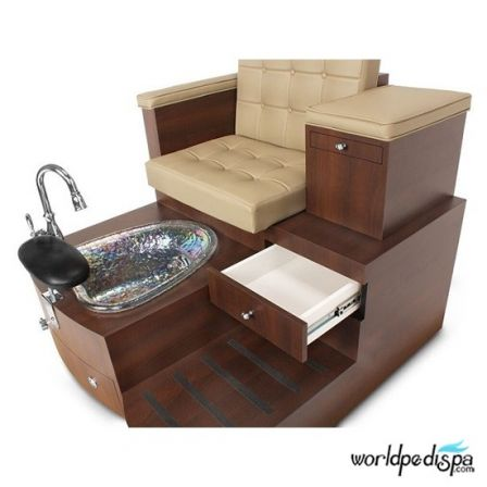 Gulfstream GS Paris Double Pedicure Bench - Drawer