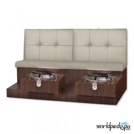 Gulfstream GS Tiffany Double Pedicure Bench - Sand