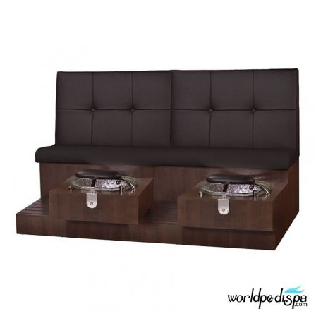 Gulfstream GS Tiffany Double Pedicure Bench - Black