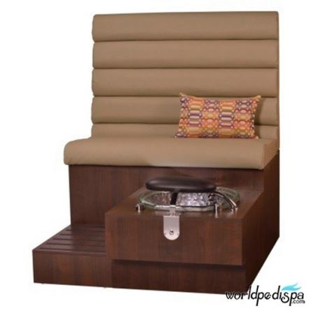 Gulfstream GS Tiffany Pedicure Bench - Curry