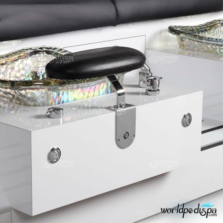 Gulfstream GS Vienna Triple Pedicure Bench - attached Footrest