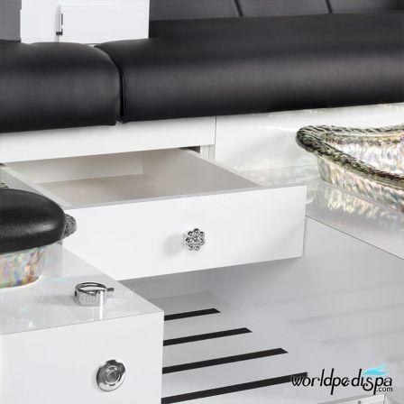 Gulfstream GS Vienna Triple Pedicure Bench - Drawer
