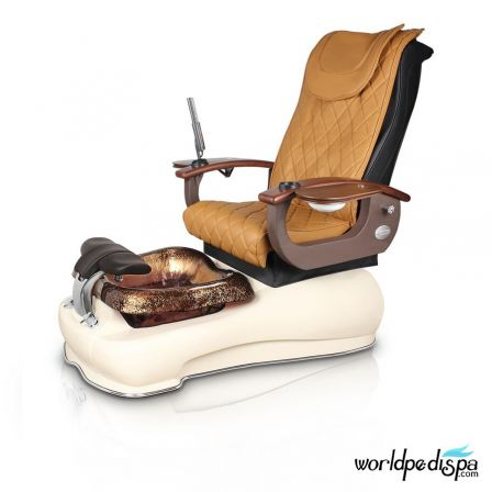 Gulfstream La Fleur III Pedicure Chair - 9620 Butterscotch Biscuit