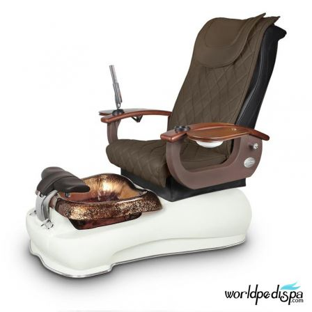 Gulfstream La Fleur III Pedicure Chair - 9620 Truffle White