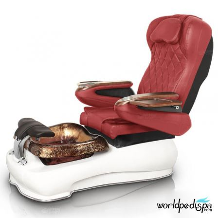 Gulfstream La Fleur III Pedicure Chair - Burgundy