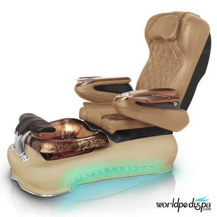 Gulfstream La Fleur III Pedicure Chair - Curry