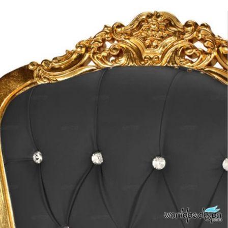 Gulfstream La Queen Throne Chair - BLack Closer view
