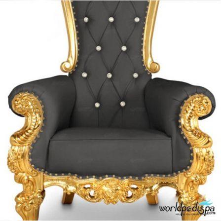 Gulfstream La Queen Throne Chair - Black Front Closer View
