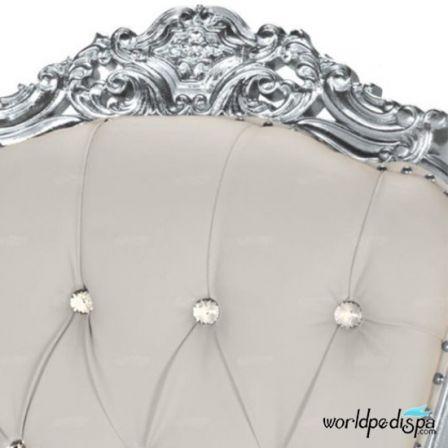 Gulfstream Queen Chair - White Closer ViewGulfstream Queen Chair -