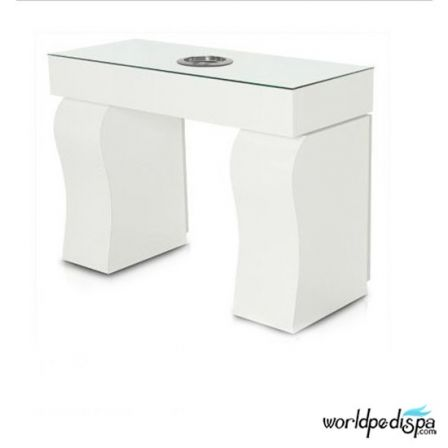 Gulfstream La Rose Double Manicure Table - White Table
