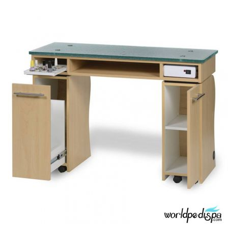 Gulfstream La Rose Manicure Table - Open Drawer
