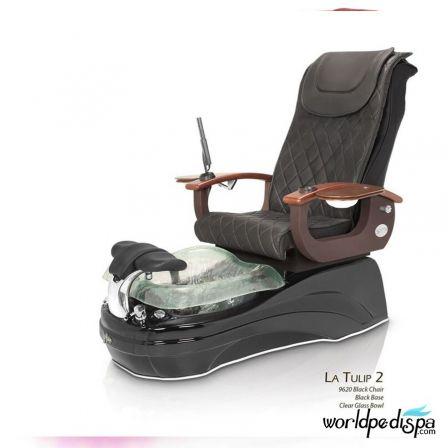 La Tulip 2 Pedicure Chair - 9620 Black Black Clear