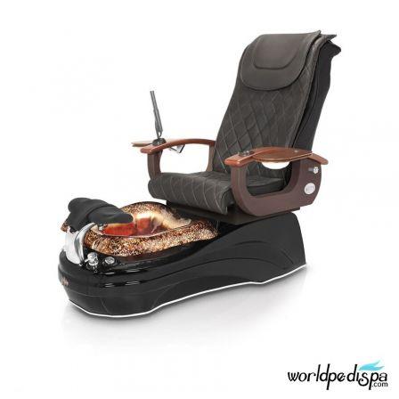 La Tulip 2 Pedicure Chair - 9620 Black Black Rustic Gold